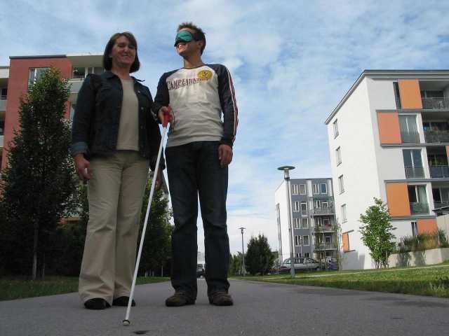 Blinde menschen kennenlernen